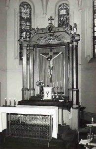 Dekoracja ołtarza głównego z lat 80
