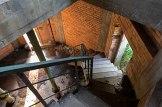 Widok z I piętra na parter wieży